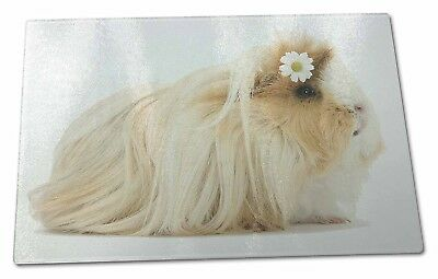 Flower in Hair Guinea Pig Extra Large Toughened Glass Cutting, Chopping Board