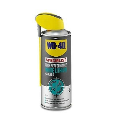 Water and Heat Resistant WD-40 Specialist White Lithium Grease 400ml - Lubricant