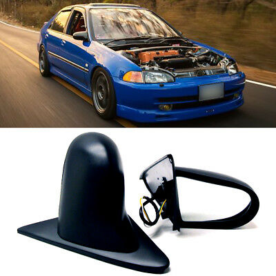 Fit 92-95 Civic 4Dr Sedan Powered Adjustable Spoon Style JDM Side View Mirror