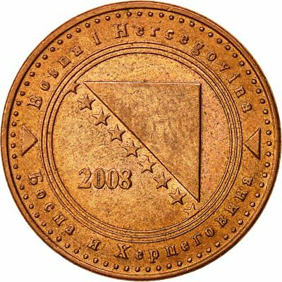 [#521333] BOSNIA-HERZEGOVINA, 10 Feninga, 2008, SS, Copper Plated Steel, KM:115