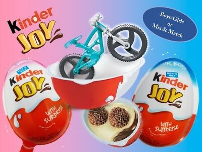 Ferrero KINDER Joy Surprise Chocolate Egg Boys and Girls 'Happos Family' Toy-USA