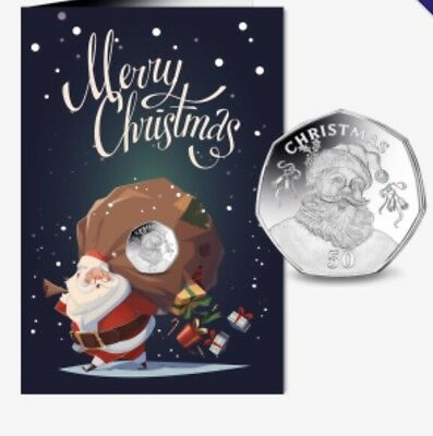 1 x GIBRALTAR CHRISTMAS 50 pence 2017 Santa Claus Limited coins collectors