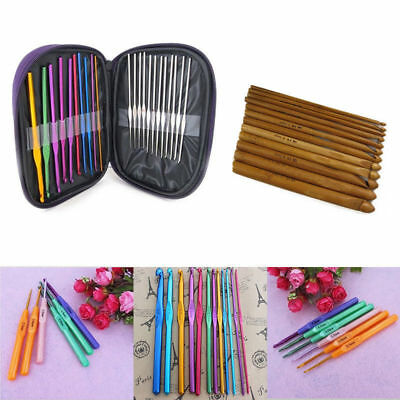 New Knitting Tools Sweater Needle Metal Crochet Soft Handle Colorful Crochet Set