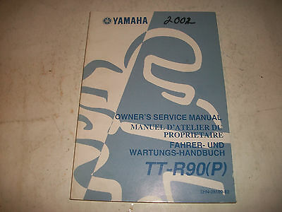 2002 Yamaha Tt-R90(P)  Motorcycle Owners Service Shop Manual Clean More Listed