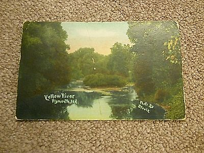 """Yellow River - Plymouth, Ind."" Vintage Postcard"