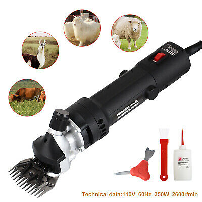 350W 2600R/min Electric Shears Clippers Goat Sheep Shave Grooming Farm Black