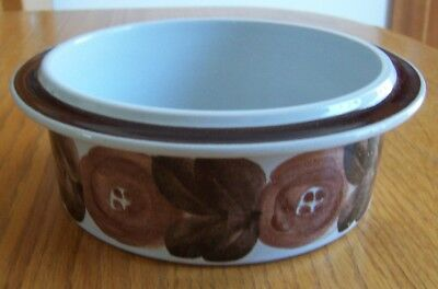 "Arabia Finland Anemone Rosemarin Brown 7 1/4"" Serving Bowl Ulla Procope"