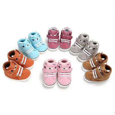 Toddler Newborn Baby Girl Boy Crib Shoes Anti-slip Sneakers Soft Sole Prewalker