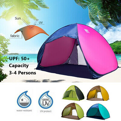 CLEARANCE Pop Up 3-4 Person Portable UV Shelter Shade Camping Hiking Beach Tent