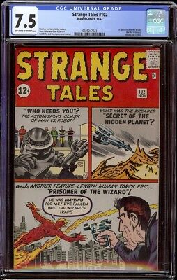 Strange Tales # 102 CGC 7.5 OW/W (Marvel, 1962) 1st appearance of the Wizard