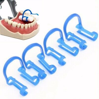 20 PCS Cotton Roll Holder Disposable Blue Clip Dental Dentist Clinic Holder