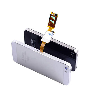 Dual Sim Card Double Adapter Convertor For iPhone 5 5S 5C 6 6 Plus Samsung HGUK