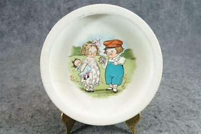 Buffalo Pottery Campbell Soup Kids Round Baby Plate C. 1920s
