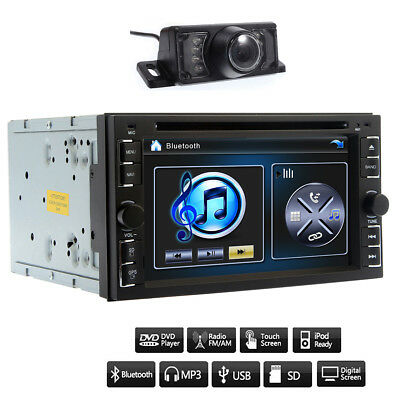 6.2'' Double 2Din Bluetooth Car Stereo Radio FM/MP5 DVD Player HD Touch Screen
