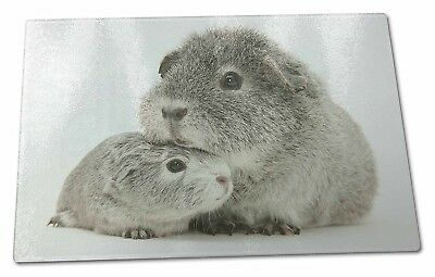 Two Silver Guinea Pigs Extra Large Toughened Glass Cutting, Chopping Board