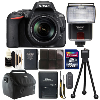 Nikon D5500 24.2MP DSLR Camera with 18-140mm VR Lens and Ultimate Accessory Kit