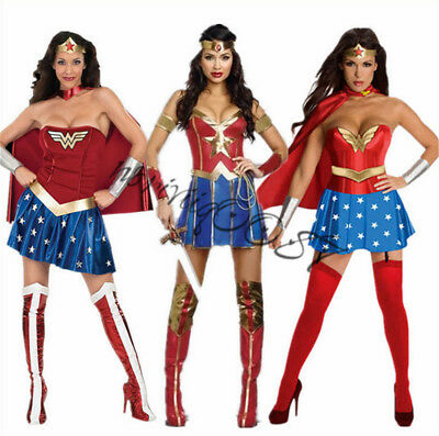 Adult Sexy Wonder Woman Cosplay Super Party Costumes Set Clothing Anime Game New