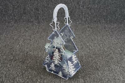"""Collection Of Star Shaped Snowman 4"""" Glass Ornaments X6 & Tree Shape Basket"""