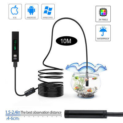 10M Wireless Endoscope Inspection Color Video Camera Probe Adjustable 8LED IP68