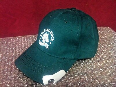 Rolling Rock Beer Hat with BOTTLE OPENER ON RIM Quality Rare NEW F/S Only1onEbay