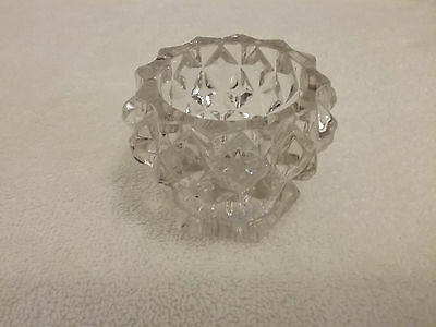 Vintage Crystal Cut Glass Candy Dish Very Beautiful!