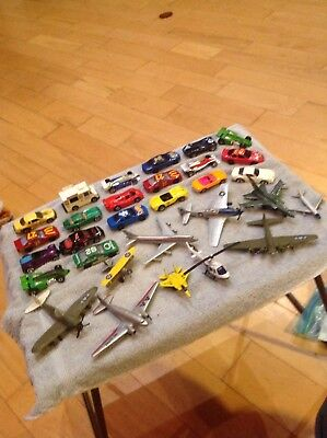 20 Vintage Diecast Cars Trucks Toys Aircraft Hot Wheels Road Champs Collectible