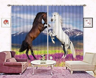 3D Garden Horse 62 Blockout Photo Curtain Printing Drapes Fabric Window CA Carly