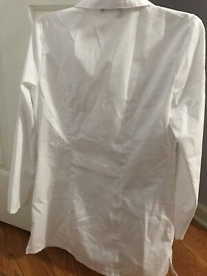 Cherokee Lab Coat Ladies xSmall  Button Front 2 Pockets