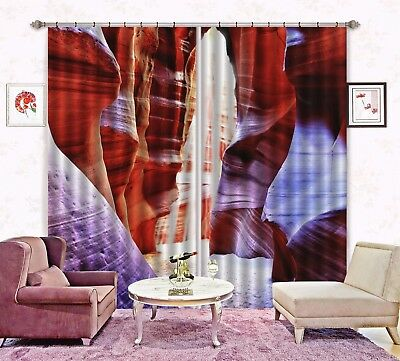 3D Wave Valley 62 Blockout Photo Curtain Printing Drapes Fabric Window CA Carly