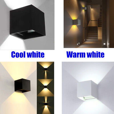 LED Wall Light 12W Cool warm white Sconce Exterior Waterproof Garden Indoor Lamp