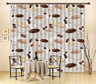 3D Cappuccino 62 Blockout Photo Curtain Printing Drapes Fabric Window CA Carly