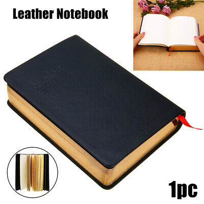 Retro Notebook Journal Diary Sketchbook Leather Cover Thick Blank Pages Notepad