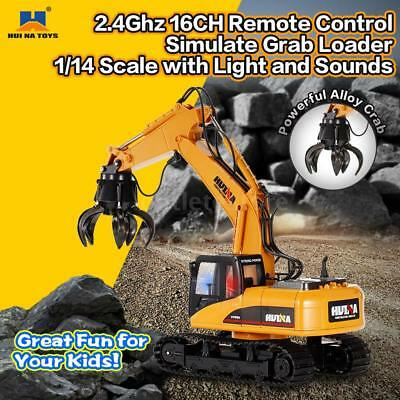 HUI NA TOYS 1571 1/14 2.4Ghz 16CH Grab Loader Grapple Tractor RC Truck NEW D2J5