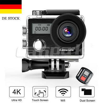 Campark X20 WiFi 4K 20MP Action Sport Kamera Dual LCD TouchScreen Wasserdicht DE