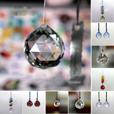 12Pcs Teardrop Drop Faceted Crystal Glass Loose Spacer Beads Lot 15mm 20mm 30mm