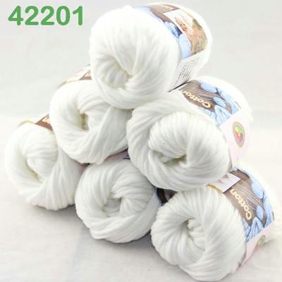 Hot Sale 6Balls X 50g Thick Chunky DIY Worsted 100% Cotton HAND Knitting Yarn 01