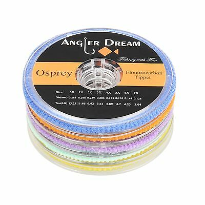 Fluorocarbon Tippet Fly Line 2/3/4/5/6X Clear 55Yds / 50M Fly Fishing Line