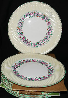 8 Royal Staffordshire Fine China Plates Antique/vintage? #15659 Cream & White