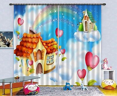 3D Rainbow Hut 622 Blockout Photo Curtain Printing Drapes Fabric Window CA Carly