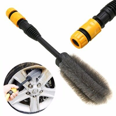 360° High-pressure Washing Tire Brush Car Clean Tool Rotates by Water Power Wash