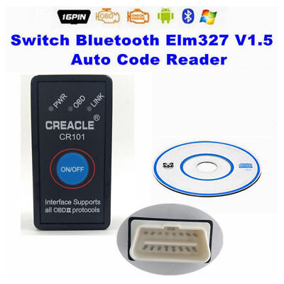 ELM327 V1.5 Bluetooth OBD2 Code Reader Auto Diagnostic Tool Switched for Android