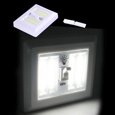 Cordless COB LED Night Light Lamp Wall Switch Closet Corridor Stairwell Doorway