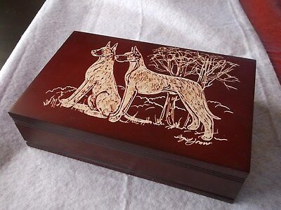 Great Dane- [Fawn] Beautifully hand engraved Jewelry Box by Ingrid Jonsson