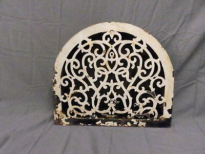 Antique Cast Iron Arch Top Floor Heat Grate Register Victorian Vtg 15x13 682-17P