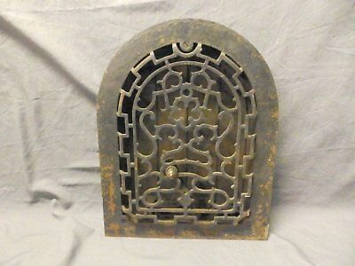 Antique Cast Iron Arch Top Heat Grate Wall Register Victorian Vtg 11X14 684-17P