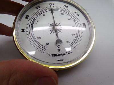 """French made Aneroid 2-3/4"""" Thermometer for Craft or Replacement Restoration E776"""