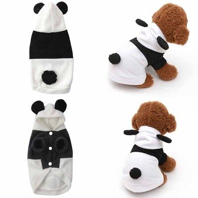 Panda Pet Hoodie Dog shape Puppy Coat Clothes Costume Jacket
