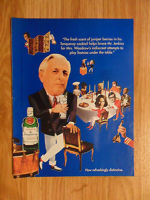 1995 Print Ad Tanqueray Gin Mr. Jenkins Footsies Under Table