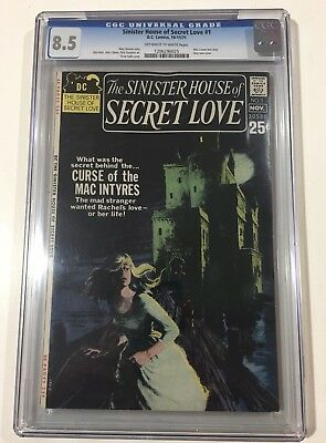 "The Sinister House of Secret Love #1 (1971, DC) VF+ 8.5 CGC ""WES CRAVEN"""