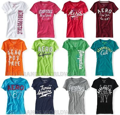 New! Aeropostale Womens T-Shirts Lot Of 25 All Embroidered  You Choose Sizes Nwt